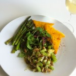 Bean-Salad-with-Polenta-and-Asparagus