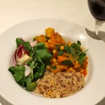 Winter Warming Vegetable Curry with Chick Peas and Spinach