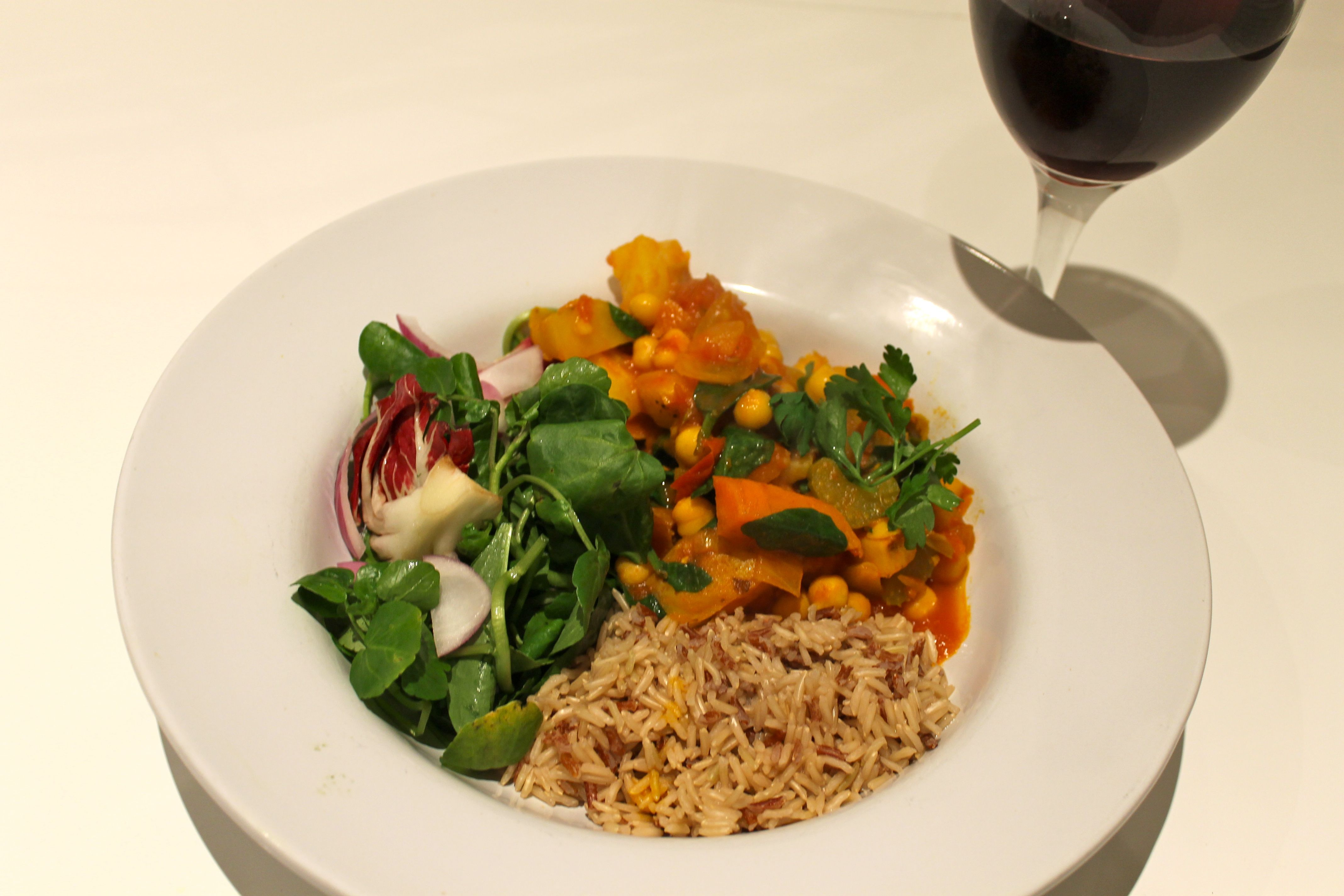 ... Vegetable Curry with Chick Peas and Spinach | Carrots and Claret
