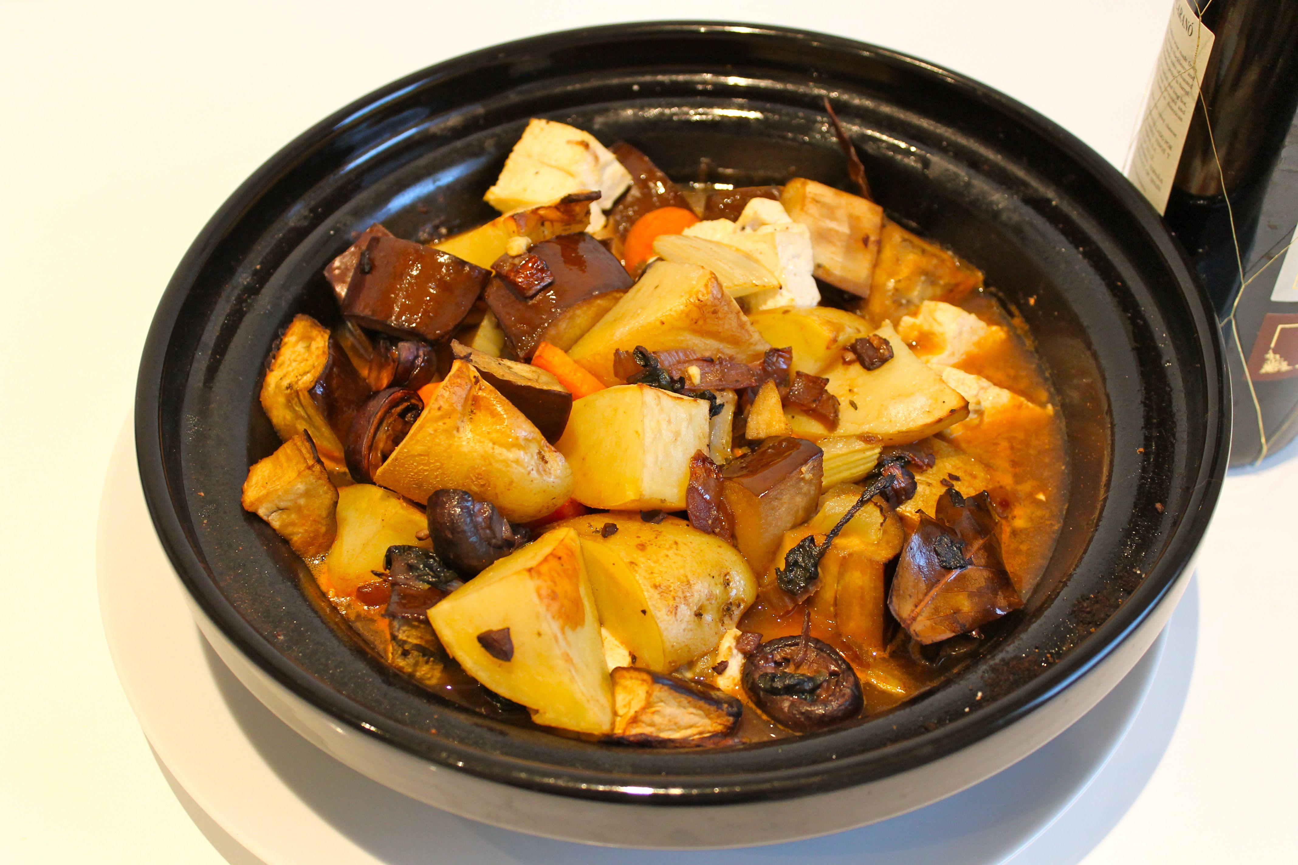 Aubergine, Potato and Tofu Casserole