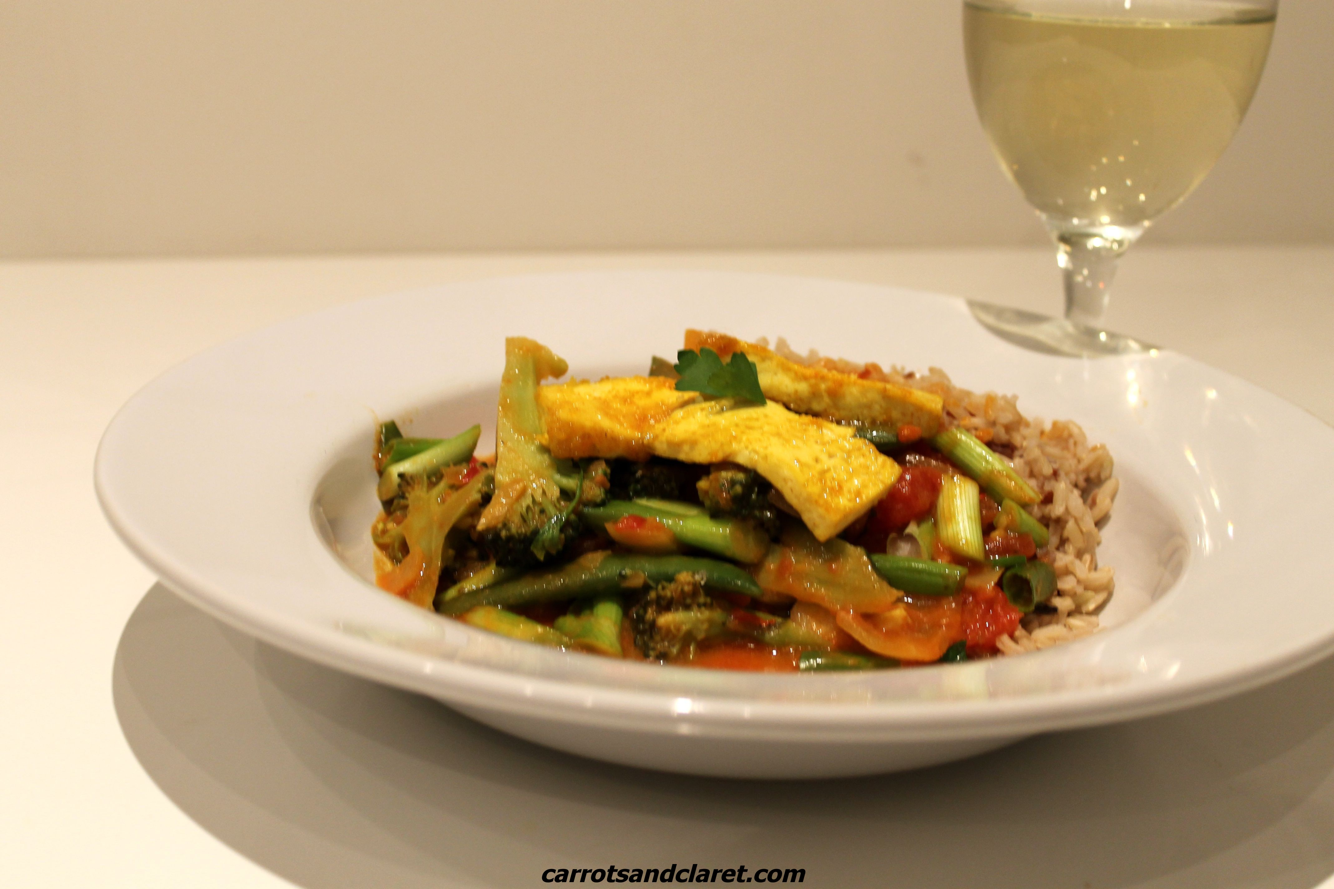 Thai Red Curry with Broccoli, Sugar Snaps and Tofu | Carrots and ...