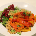Fusilli with Peppers and Broad Beans