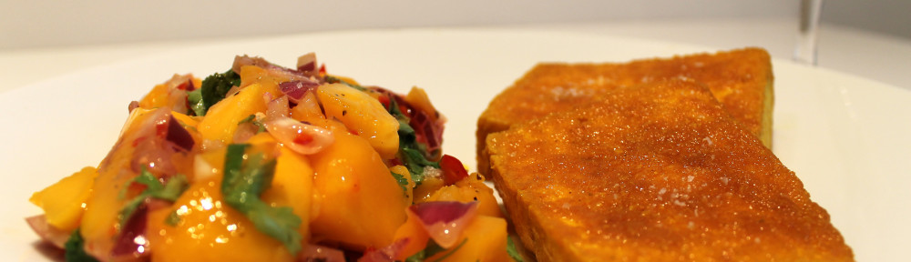 Crispy Fried Tofu with Mango Salsa