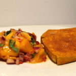 Crispy Fried Tofu with Mango Salsa