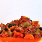 Red Pepper and Borlottie Bean Casserole